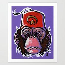 Shriner Monkey Art Print