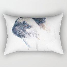 Pug Forest Rectangular Pillow