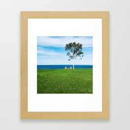 Seats with a View Framed Art Print