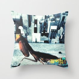 Gentleman mantis Throw Pillow