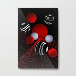 crazy lines and balls -11- Metal Print