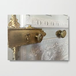 Gilded Nonsense #1 Delicate Details Metal Print