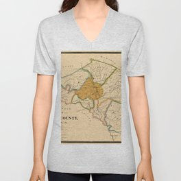 Map Of Athens Georgia 1893 Unisex V-Neck