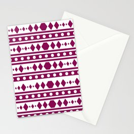 Marsala Tribal Pattern Stationery Cards