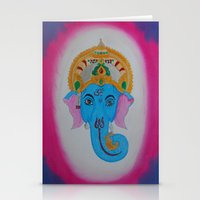 ganesh Stationery Cards featuring Ganesh by Pixie Willow Art Designs