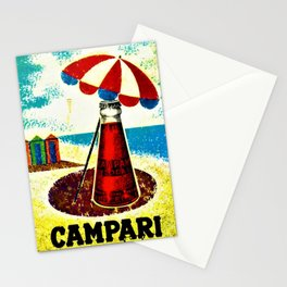 Vintage 1957 Cordial Campari Advertisement Poster Stationery Cards