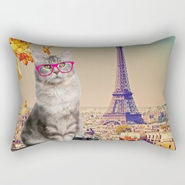 Louie in Paris Rectangular Pillow