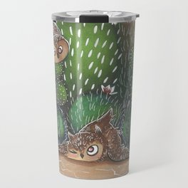 Dessert Owls Cactus Travel Mug