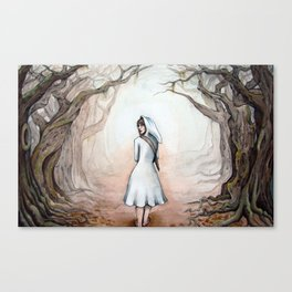 Into the trees Canvas Print