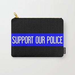 Support Our Police: Black U.S. Flag Carry-All Pouch