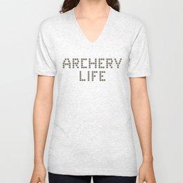 Archery life (minitargets) Unisex V-Neck