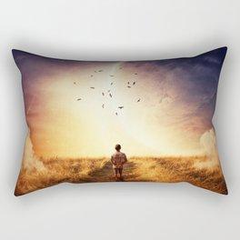 cosmic walk Rectangular Pillow