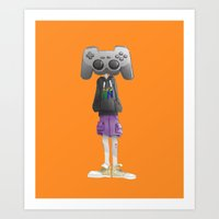 playstation Art Prints featuring Playstation by Brenon