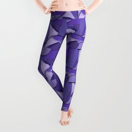 Ultra Violet Abstract Waves Leggings