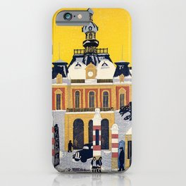 Koizumi Kishio - Tokyo City Hall, The Remaining Snow - Digital Remastered Edition iPhone Case