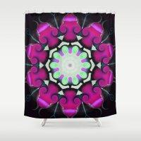 neon Shower Curtains featuring Neon by IowaShots