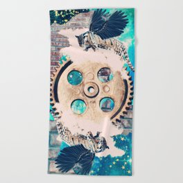 The Wheel of Fortune Beach Towel