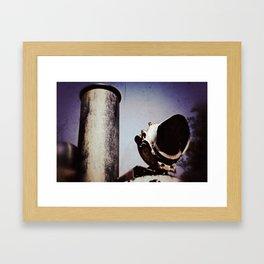 Steaming Framed Art Print
