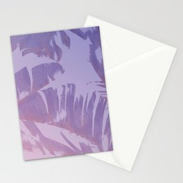 Tropical Sunset Banana Leaves Design Stationery Cards