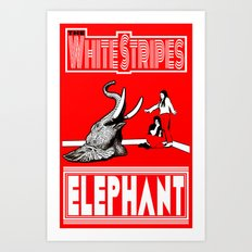 The White Stripes  |  Elephant Art Print