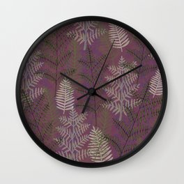 Ferns Purple Wall Clock