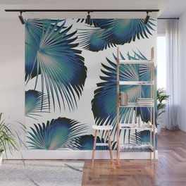 Fan Palm Leaves Paradise #1 #tropical #decor #art #society6 Wall Mural
