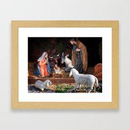 Christmas and Christianity. Nativity scene. Framed Art Print