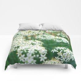 White Flowers Comforters