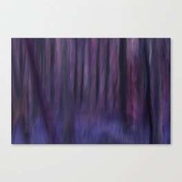Painted Trees 2 Purples Canvas Print