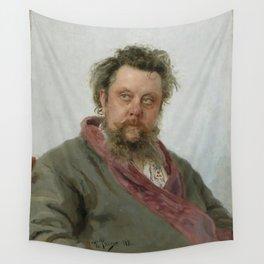 Modest Petrovich Mussorgsky (1839 – 1881) by Ilya Repin in 1881 Wall Tapestry
