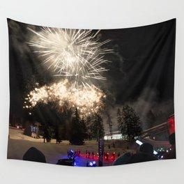 Fireworks Les Arcs 2017 Wall Tapestry