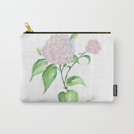 Watercolor Hydrangeas Carry-All Pouch