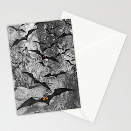 Halloween and Bats Stationery Cards