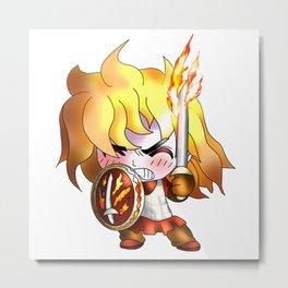 dnd cleric, follower of the forgotten realms god tempus Metal Print
