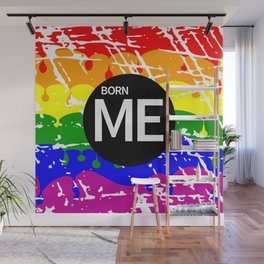Freedom flag Rainbow Born Me Wall Mural