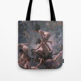 WITCHES GOING TO THEIR SABBATH / THE DEPARTURE OF THE WITCHES - LUIS RICARDO FALERO Tote Bag