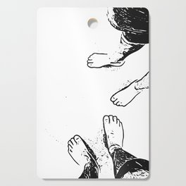 Feet on the sand Cutting Board
