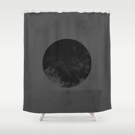 Black Japan Flag Shower Curtain