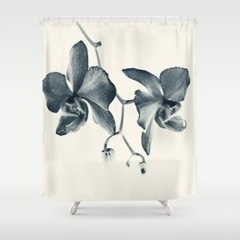 Cyan Orchid #1 Shower Curtain
