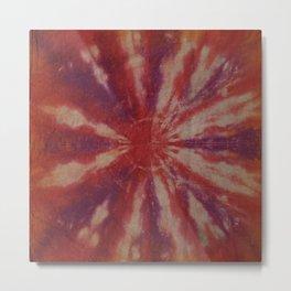 Tie Dye Red Orange Purple Metal Print