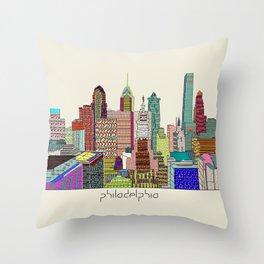 Philadelphia city sklyine Throw Pillow