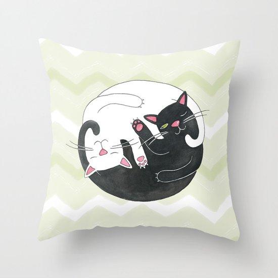 Cat Philosophy Throw Pillow