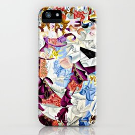 Dancing in the Paris Dancehall Bal Tabarin by Gino Severini iPhone Case