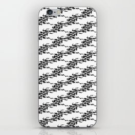 Cedar Waxwings in a Pear Tree with Nest - Black and White iPhone Skin