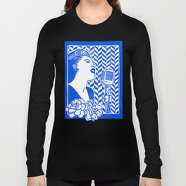Lady Day (Billie Holiday block print) Long Sleeve T-shirt
