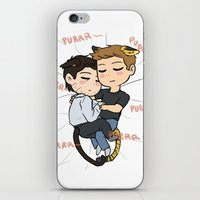 destiel iPhone & iPod Skins featuring Feline!Destiel by Tsuki-Nekota