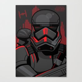 These aren't the troopers you're looking for... Dark side variant Canvas Print