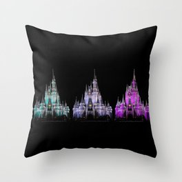 Magic Kingdom Christmas Throw Pillow