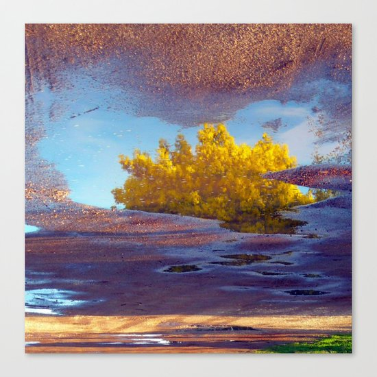 Spring in a puddle! Canvas Print