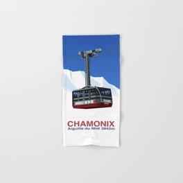Chamonix Ski Resort , Aiguile du Midi Cable Car Hand & Bath Towel